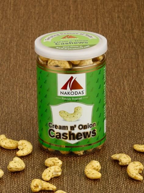 Cream n onion Cashews 200g Jar