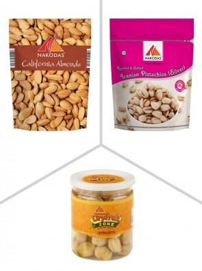 Premium Combo 2  (Almonds Jumbo, Irani Pista,Apricot)