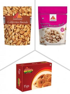 Premium Combo 3 (Almonds Jumbo,Irani Pista,Figs)