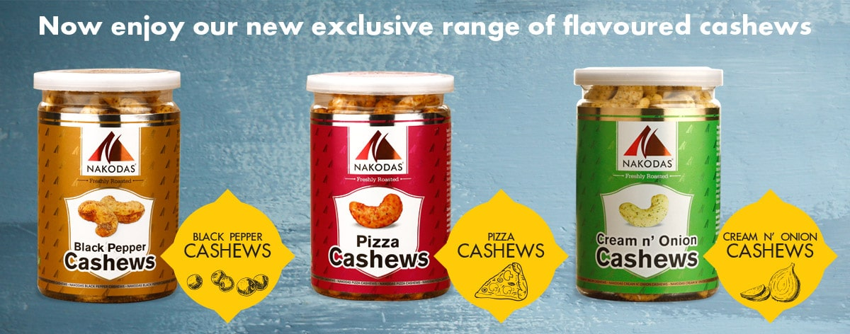 exclusive flavoured cashews at dryfruitzone